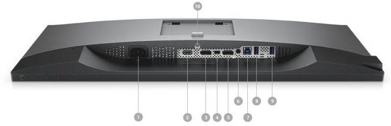 Dell U2518D Portlar