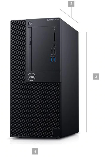 Dell Optiplex 3070 MT Boyutlar