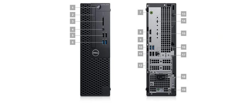 Dell Optiplex 3070 SFF Portlar