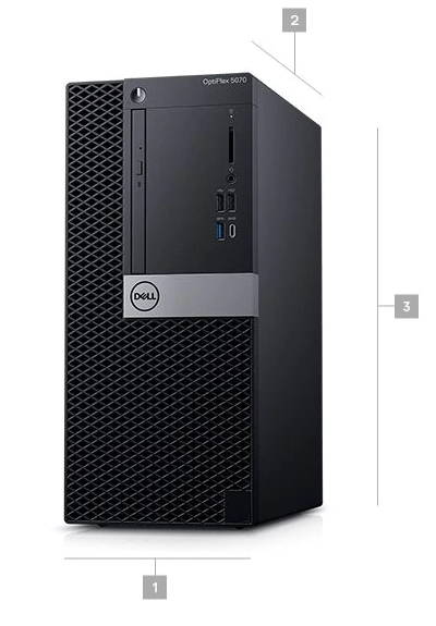 Dell Optiplex 5070 MT Boyutlar