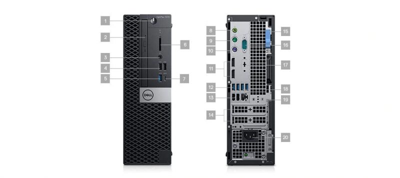 Dell Optiplex 7070 SFF Portlar