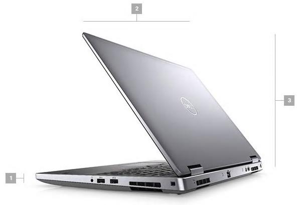 Dell Precision 7540 Boyutlar