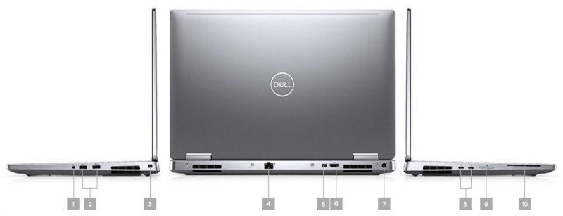 Dell Precision 7540 Portlar