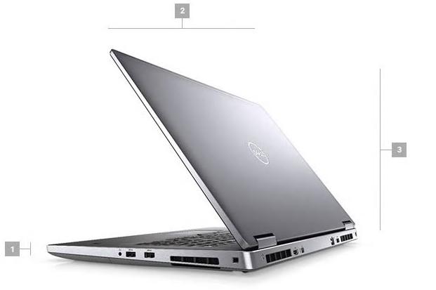 Dell Precision 7740 Boyutlar