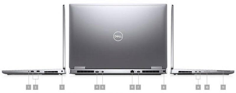 Dell Precision 7740 Portlar