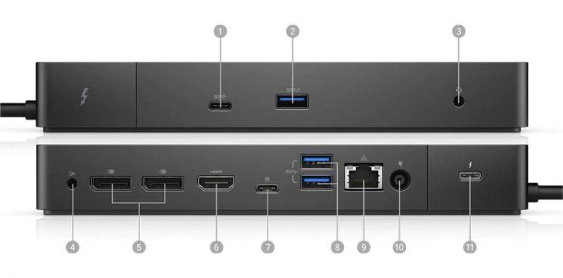 Dell Dock WD19TB Portlar